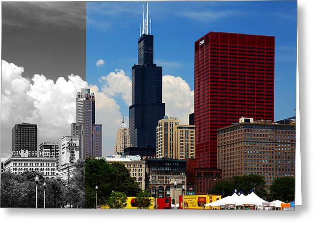 Chicago Skyline Sears Tower Greeting Card