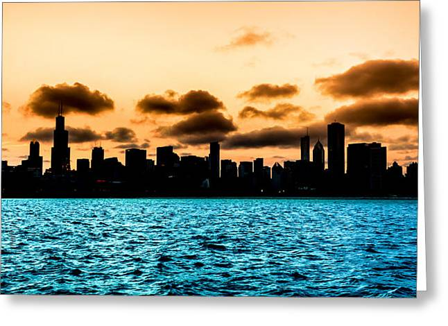 Chicago Skyline Silhouette Greeting Card