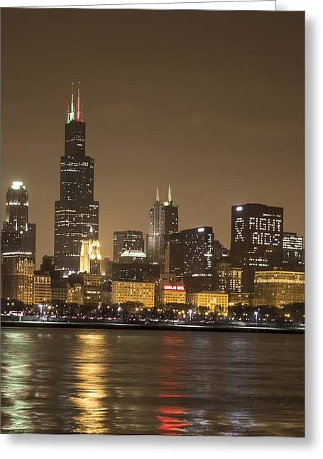 Chicago Skyline - World Aids Day 12/1/12 Greeting Card