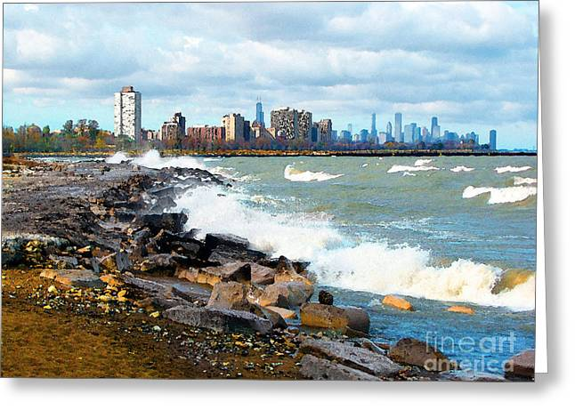 Chicago South Lakefront Greeting Card