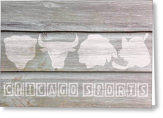 Chicago Sports Teams Greeting Card by Celestial Images