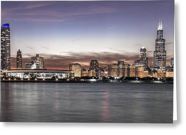 Chicago Sunset Greeting Card by John McGraw