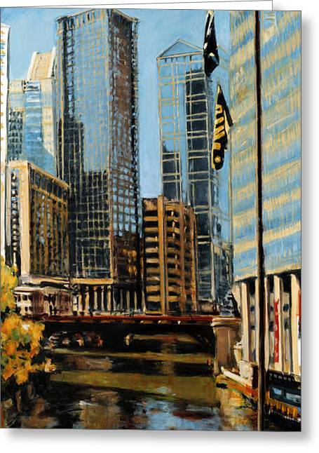 Chicago - The River From The East Greeting Card
