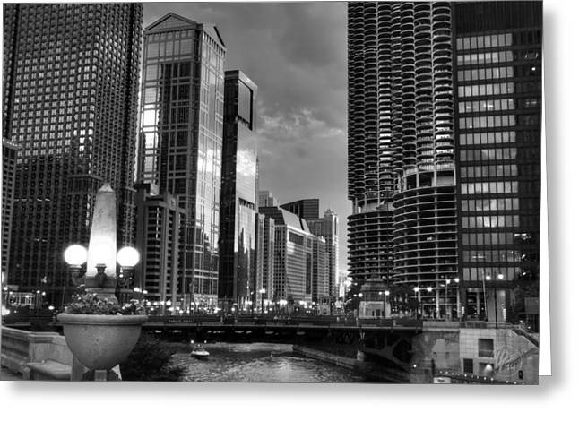 Chicago - The Riverwalk 001 Greeting Card by Lance Vaughn