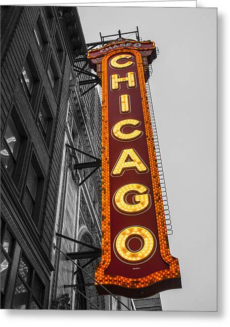 Chicago Theater Selective Color Greeting Card