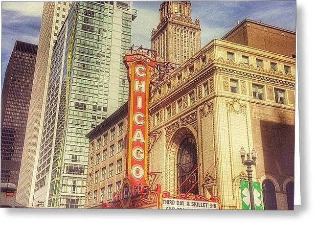 Chicago Theatre #chicago Greeting Card
