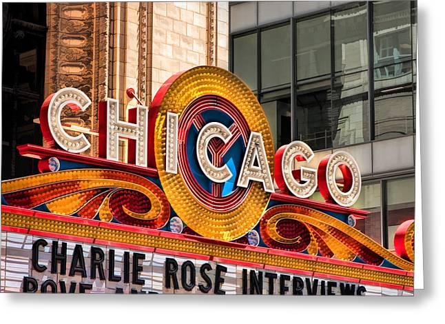 Chicago Theatre Marquee Greeting Card