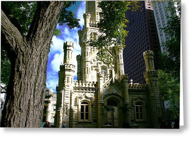 Chicago Water Tower Castle Greeting Card