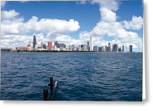 Chicago Waterfront, Adler Planetarium Greeting Card by Panoramic Images