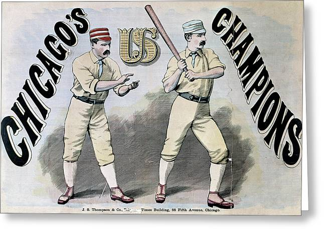 Chicago White Stockings Greeting Card by Granger