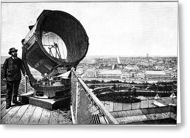 Chicago World Fair Searchlight, 1893 Greeting Card by Science Photo Library