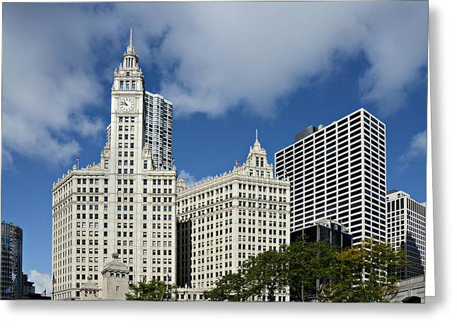 Chicago - Wrigley Building Greeting Card by Christine Till