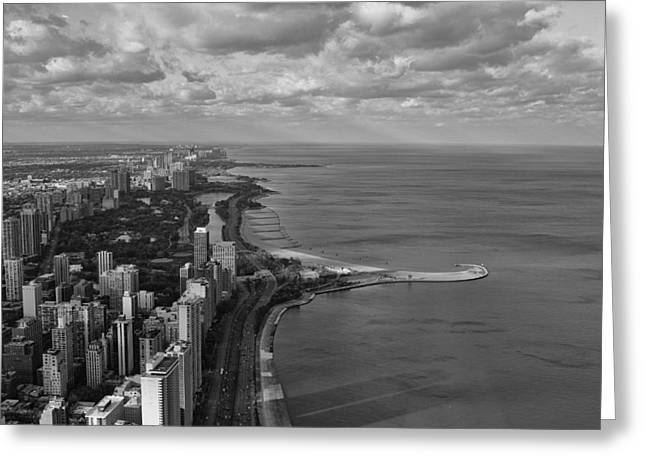 Chicago's Lake Front Greeting Card by Jerome Lynch