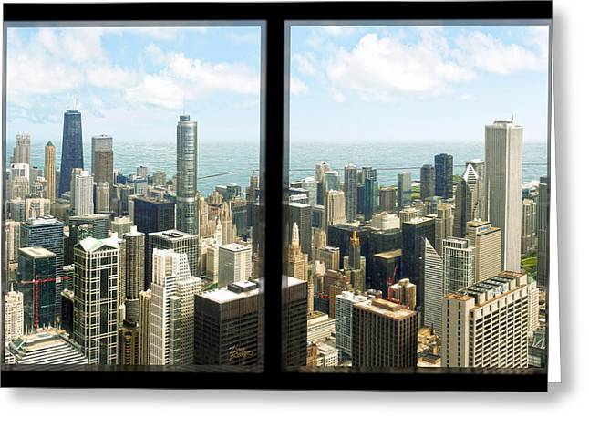 Greeting Card featuring the photograph Chicago's Tallest by Doug Kreuger