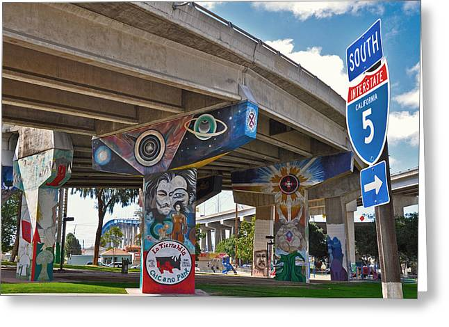 Chicano Park Greeting Card by Todd Hartzo