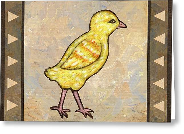 Chick One Greeting Card by Linda Mears