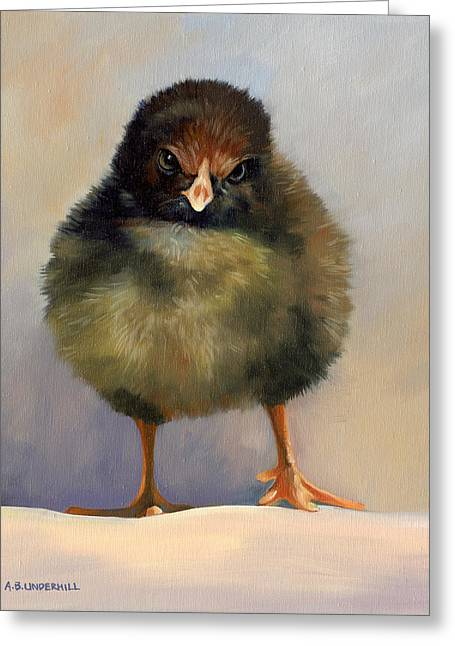 Greeting Card featuring the painting Chick With Attitude by Alecia Underhill