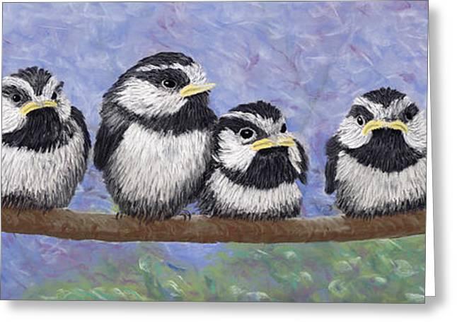 Chickadee Chicks Greeting Card