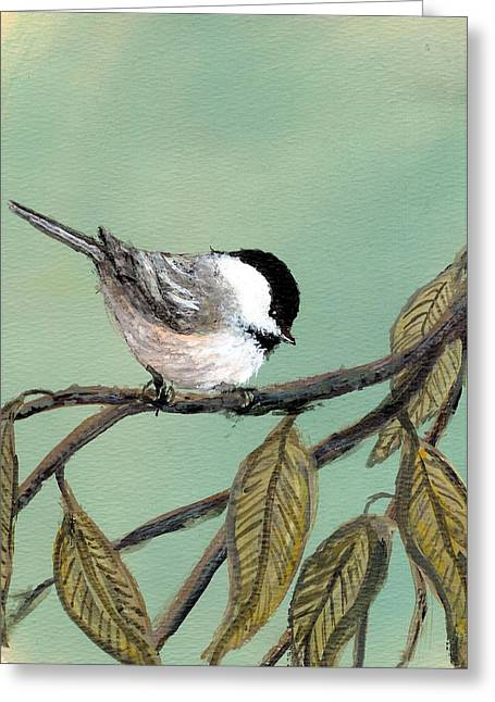 Chickadee Set 10 - Bird 1 Greeting Card by Kathleen McDermott