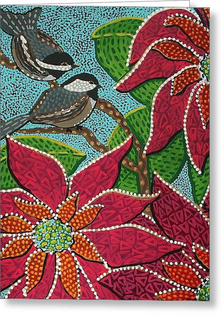 Chickadee's At Winter Time Greeting Card