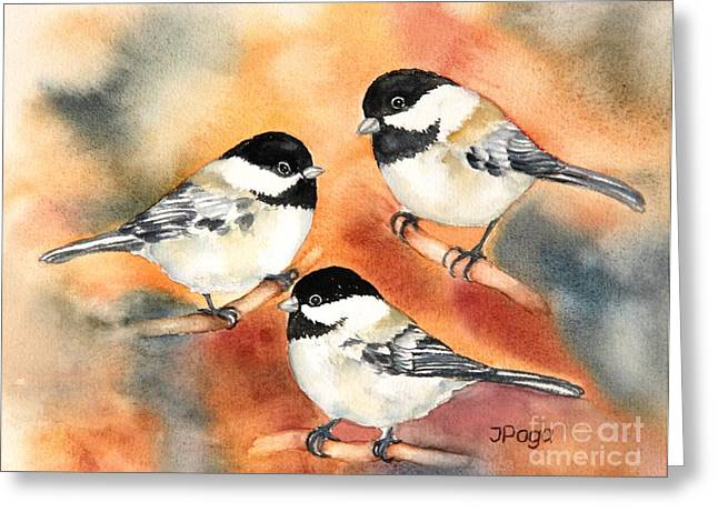 Chickadees Trio Greeting Card