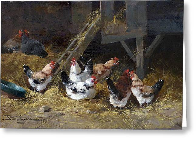 Chicken Coop Circa 1880 Greeting Card by David Lloyd Glover