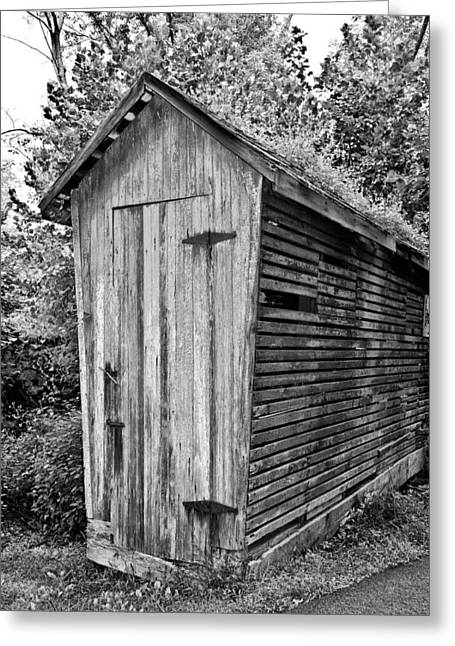 Chicken Coop In Black And White Greeting Card
