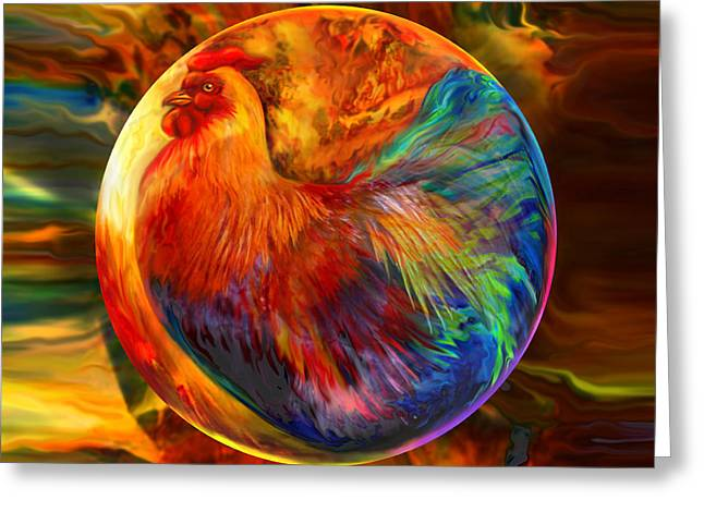 Chicken In The Round Greeting Card