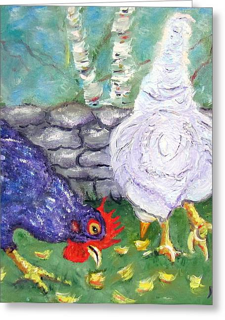 Chicken Neighbors Greeting Card