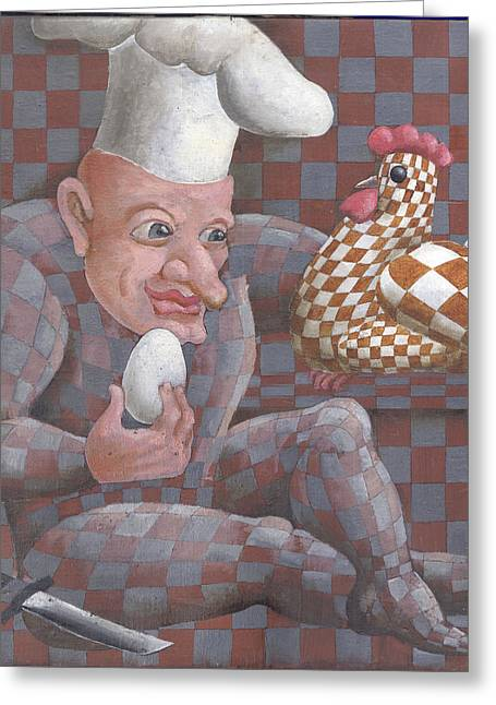 Chicken Or The Egg?  Greeting Card