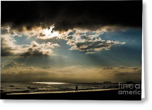 Greeting Card featuring the photograph Chick's Beach Morning by Angela DeFrias