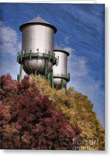 Chico Water Towers Greeting Card