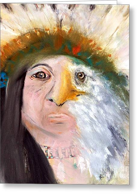Chief Black Eagle Greeting Card