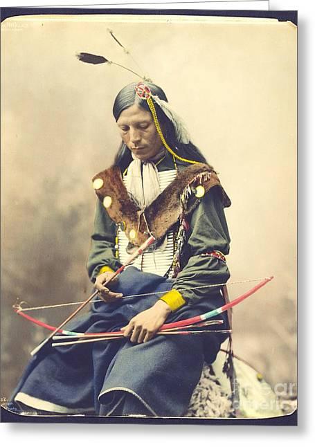 Chief Bone Necklace - Sinte Greeting Card