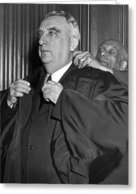 Chief Justice Fred Vinson Greeting Card by Underwood Archives
