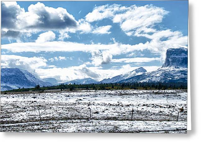 Chief Of The Mountains Greeting Card by Renee Sullivan