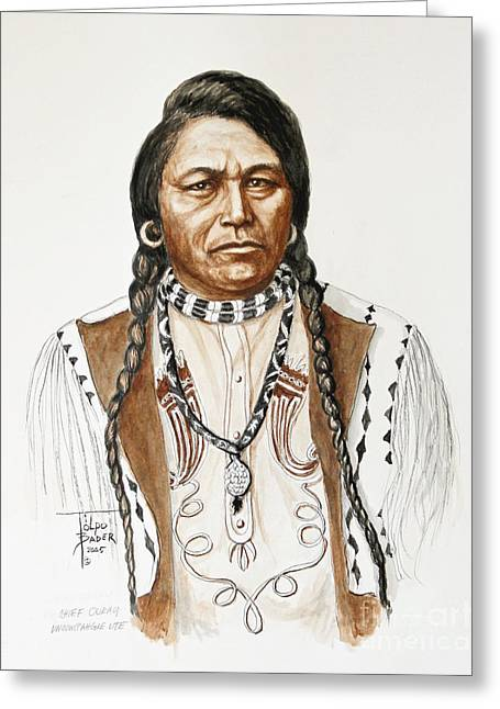 Chief Ouray Greeting Card
