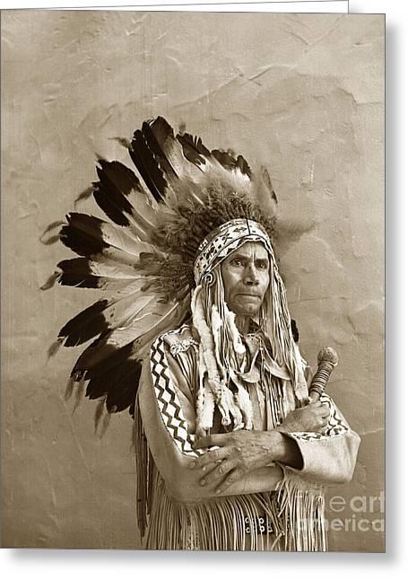 Chief Red Eagle Carmel California Circa 1940 Greeting Card