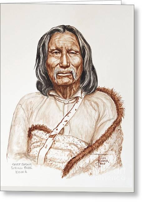 Chief Satnak - Kiowa Greeting Card