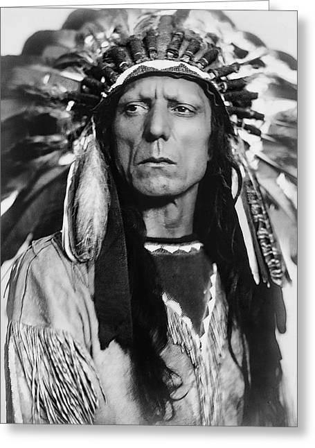 Chief War Eagle C. 1909 Greeting Card by Daniel Hagerman