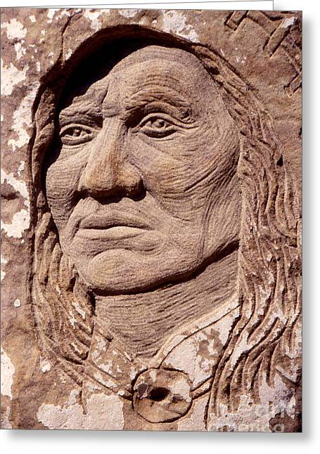 Chief-washakie Greeting Card by Gordon Punt