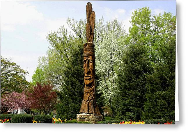 Chief Woapalanee Welcomes Spring Greeting Card