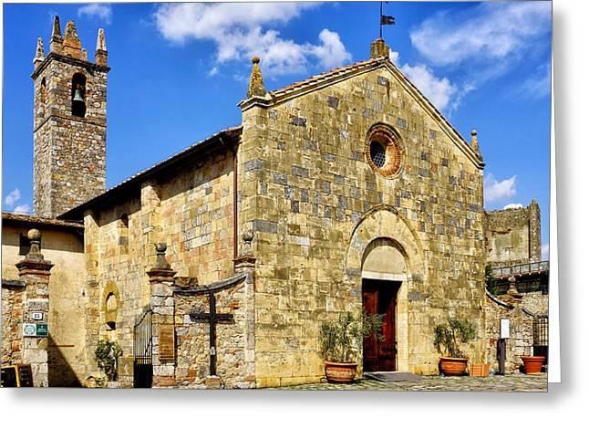 Chiesa Di Santa Maria Assunta Greeting Card by Fabrizio Troiani