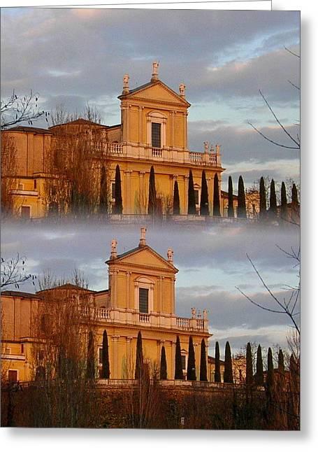Chiesa Radopiata Greeting Card by Halina Nechyporuk