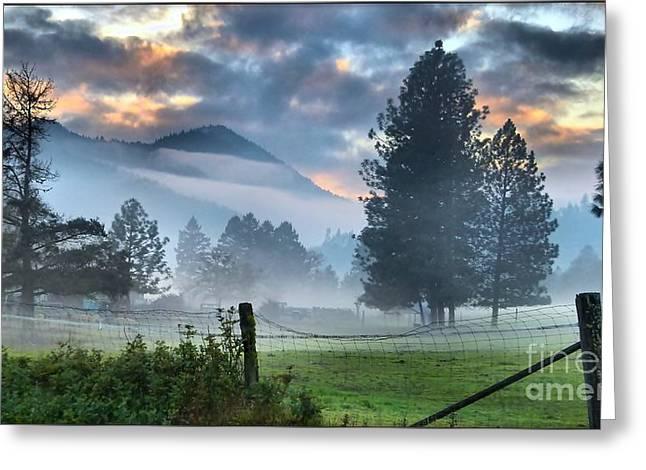 Chiffon Fog Greeting Card