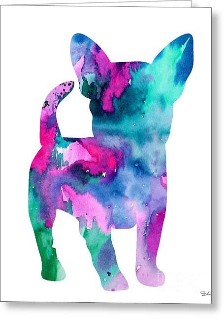 Chihuahua 6 Greeting Card by Luke and Slavi