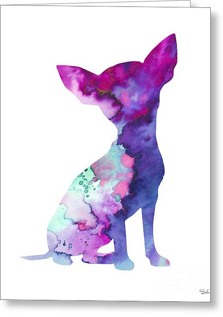 Chihuahua 7 Greeting Card by Watercolor Girl
