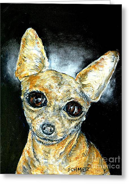 Chihuahua Angel Greeting Card by Jay  Schmetz