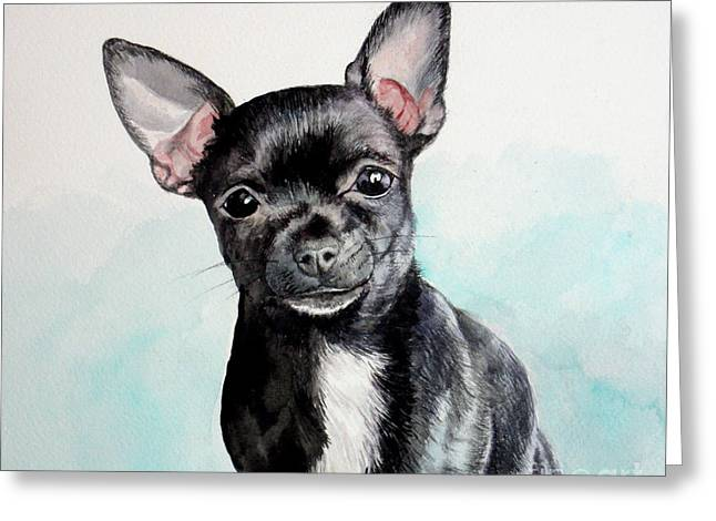 Chihuahua Black Greeting Card
