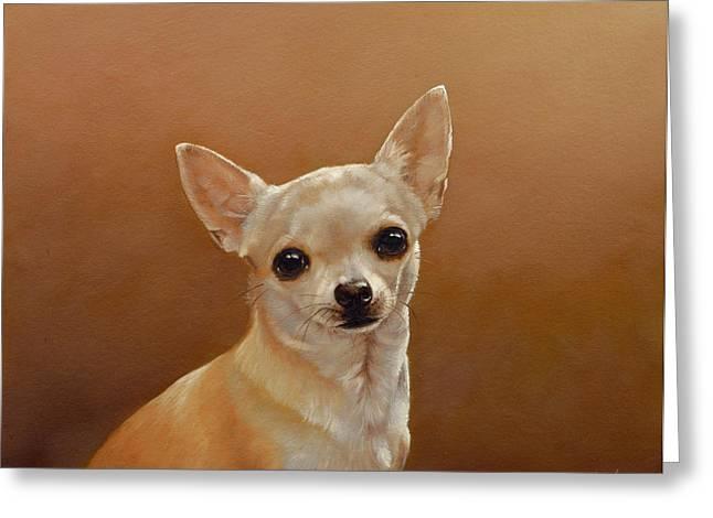 Chihuahua I Greeting Card by John Silver